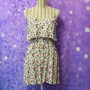 Divided Floral Spaghetti Strap Dress Size 12